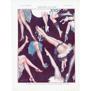 フランスの雑誌挿絵 〜LA VIE PARISIENNE〜より(Vald'Es)0362