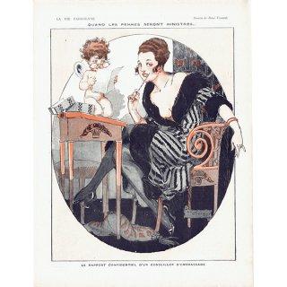 フランスの雑誌挿絵 〜LA VIE PARISIENNE〜より(ルネ・ヴィンセント/René Vincent)0371
