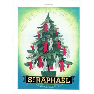 "St Raphael ""QUINAQUINA"" サンラファエル・キンキーナのヴィンテージ広告 1937年 0200"