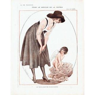 フランスの雑誌挿絵 〜LA VIE PARISIENNE〜より(Vald'Es)0397