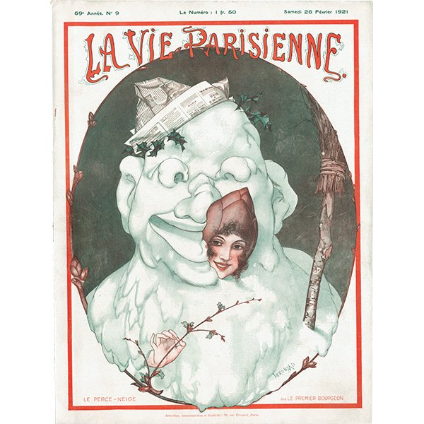 フランスの雑誌表紙 〜LA VIE PARISIENNE〜より(シェリ・エルアール/Chéri Hérouard)0404