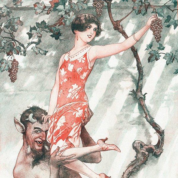 フランスの雑誌挿絵 〜LA VIE PARISIENNE〜より(シェリ・エルアール/Chéri Hérouard)0411