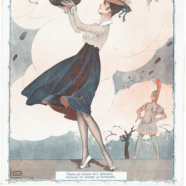 フランスの雑誌表紙 〜LA VIE PARISIENNE〜より(ジョルジュ・レオネック/Georges Léonnec)0417