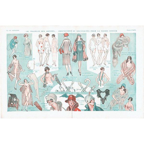 フランスの雑誌挿絵 〜LA VIE PARISIENNE〜より(Vald'Es)0418