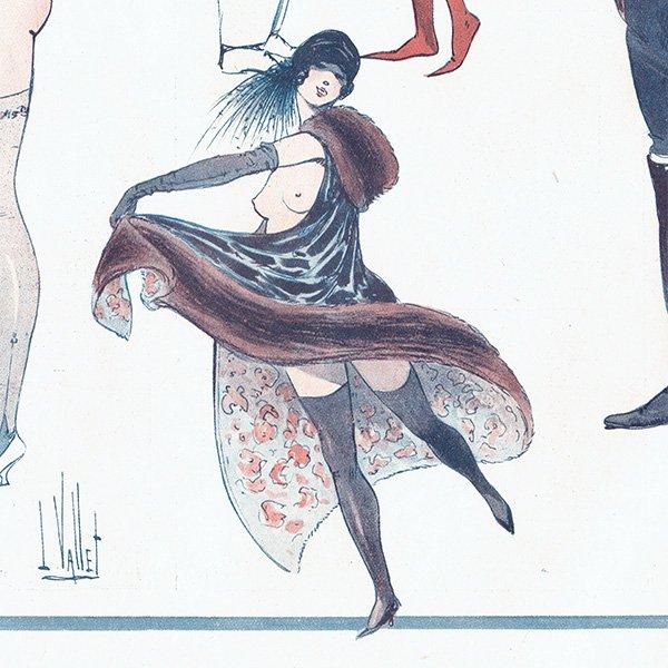 フランスの雑誌挿絵 〜LA VIE PARISIENNE〜より(Louis Vallet)0424