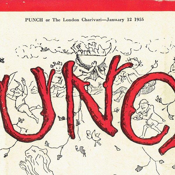 イギリスの週刊風刺漫画雑誌PUNCH(パンチ)1955年1月12日号 0205