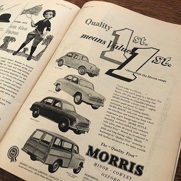 イギリスの週刊風刺漫画雑誌PUNCH(パンチ)1955年2月9日号 0207