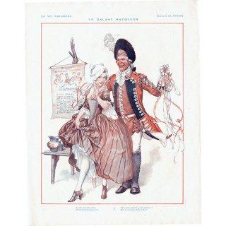 フランスの雑誌挿絵 〜LA VIE PARISIENNE〜より(シェリ・エルアール/Chéri Hérouard)0427