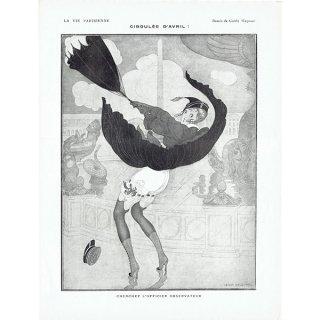 ゲアダ・ヴィーイナ(Gerda Wegener)フランスの雑誌挿絵 〜LA VIE PARISIENNE〜より 0428