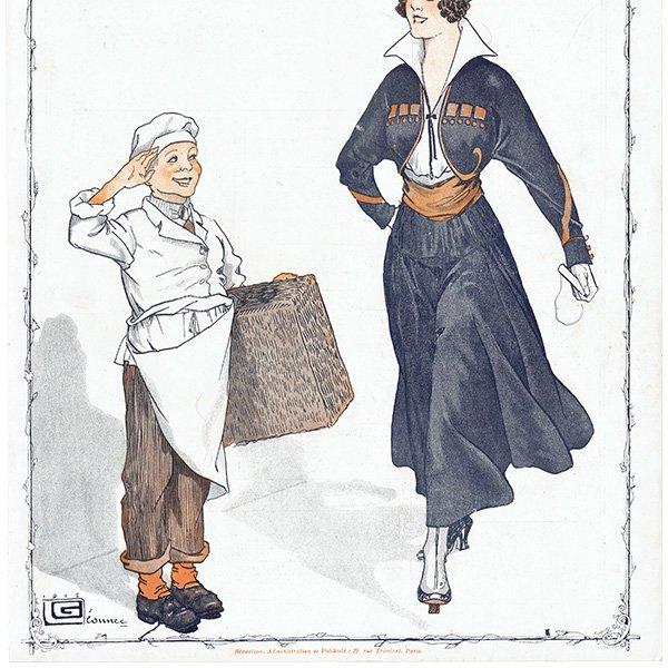 フランスの雑誌表紙 〜LA VIE PARISIENNE〜より(ジョルジュ・レオネック/Georges Léonnec)0430