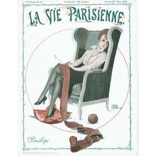 フランスの雑誌表紙 〜LA VIE PARISIENNE〜より(ジョルジュ・レオネック/Georges Léonnec)0434