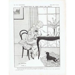 フランスの雑誌挿絵 〜LA VIE PARISIENNE〜より(Edouard Touraine)0433