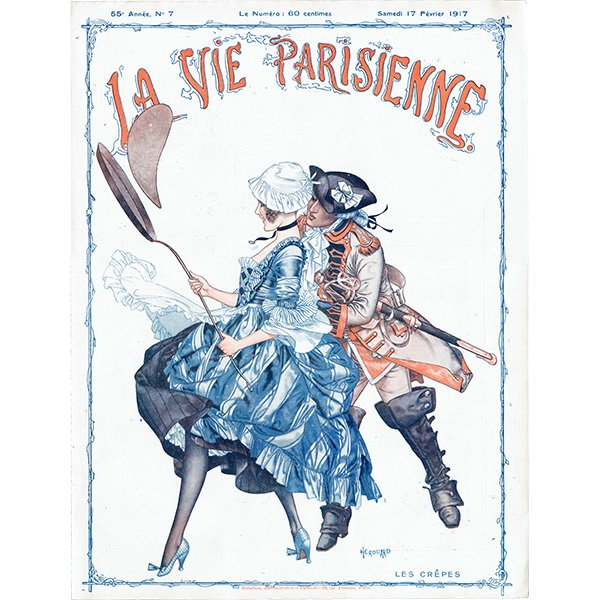 フランスの雑誌表紙 〜LA VIE PARISIENNE〜より(シェリ・エルアール/Chéri Hérouard)0436