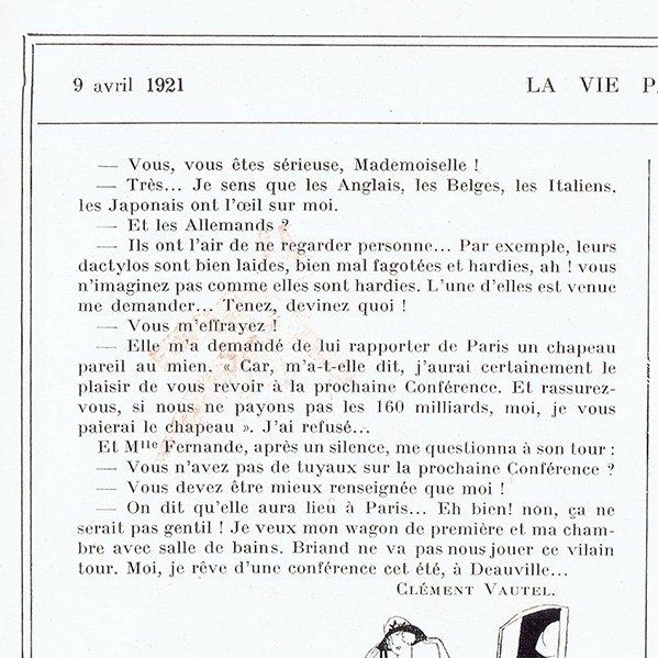 フランスの雑誌挿絵 〜LA VIE PARISIENNE〜より(Vald'Es)0444