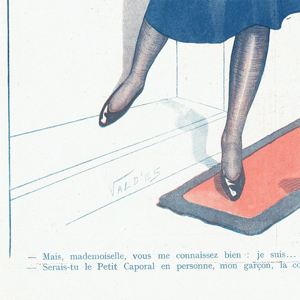 フランスの雑誌挿絵 〜LA VIE PARISIENNE〜より(Vald'Es)0445<img class='new_mark_img2' src='https://img.shop-pro.jp/img/new/icons5.gif' style='border:none;display:inline;margin:0px;padding:0px;width:auto;' />