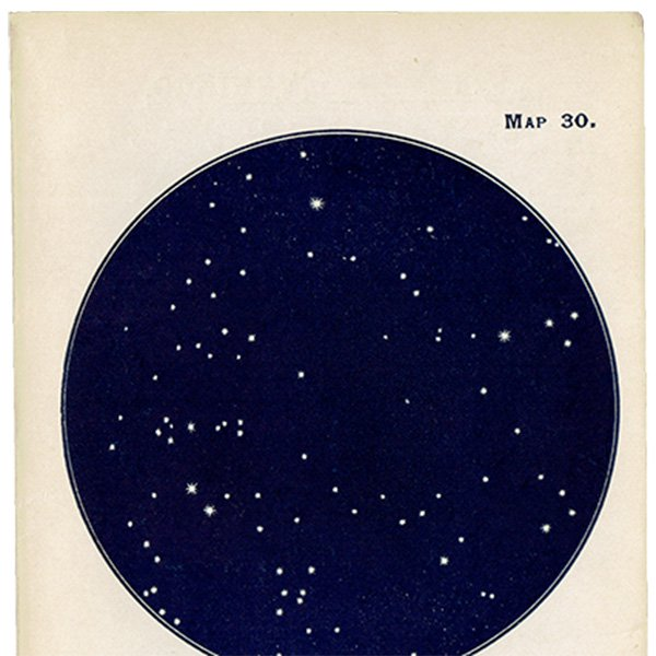 【天文学】星空アンティークプリント 0050