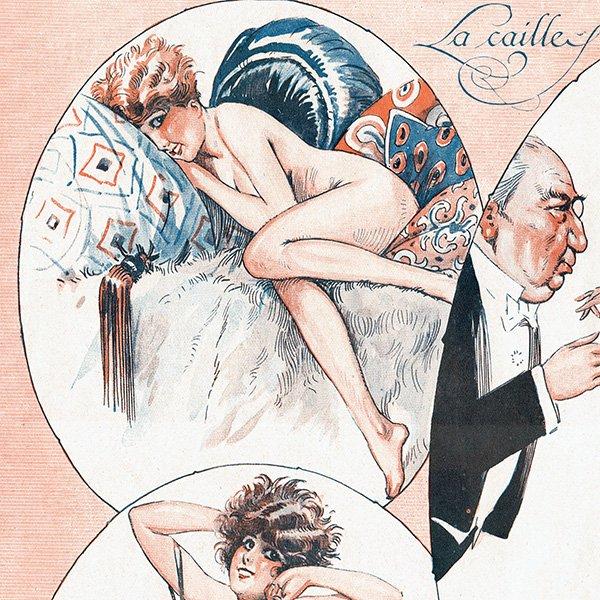 フランスの雑誌挿絵 〜LA VIE PARISIENNE〜より(モーリス・ミリエール/Maurice Milliere)0467
