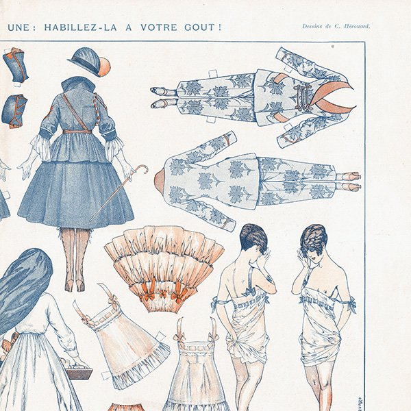 フランスの雑誌挿絵 〜LA VIE PARISIENNE〜より(シェリ・エルアール/Chéri Hérouard)0468