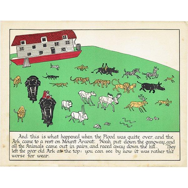 ノアの方舟 Noah's Ark(1930年代絵本より)0006