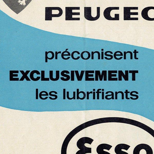 PEUGEOT(プジョー)/Esso(エッソ) 1962年 フレンチヴィンテージ広告  0083