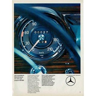 メルセデス・ベンツ(mercedes-benz) 1964年 フレンチヴィンテージ広告  0082