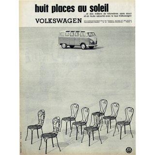 1961年 フォルクスワーゲンType2(ワーゲンバス)フレンチヴィンテージ雑誌広告 0084