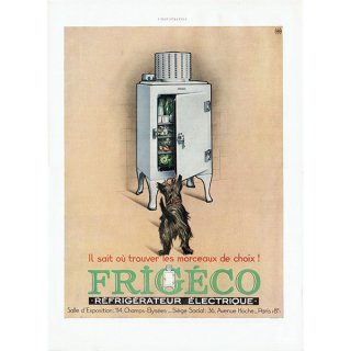 FRIGECO(冷蔵庫)フレンチヴィンテージ広告 1932年 0209<img class='new_mark_img2' src='https://img.shop-pro.jp/img/new/icons5.gif' style='border:none;display:inline;margin:0px;padding:0px;width:auto;' />