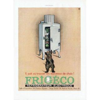 FRIGECO(冷蔵庫)フレンチヴィンテージ広告 1932年 0209