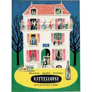 VITTELLOISE ミネラルウォーター フレンチヴィンテージ広告 1953年 0215