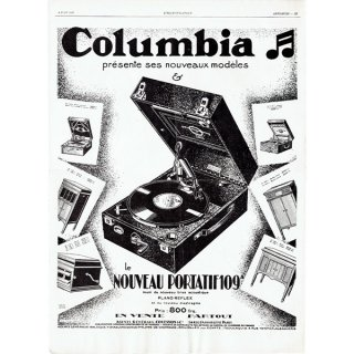 Colombia(コロンビア)フレンチヴィンテージ広告 1929年 0213<img class='new_mark_img2' src='https://img.shop-pro.jp/img/new/icons5.gif' style='border:none;display:inline;margin:0px;padding:0px;width:auto;' />