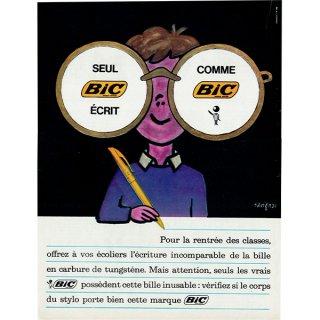 Bic ボールペン フレンチヴィンテージ広告(サヴィニャック) 1963年 0216