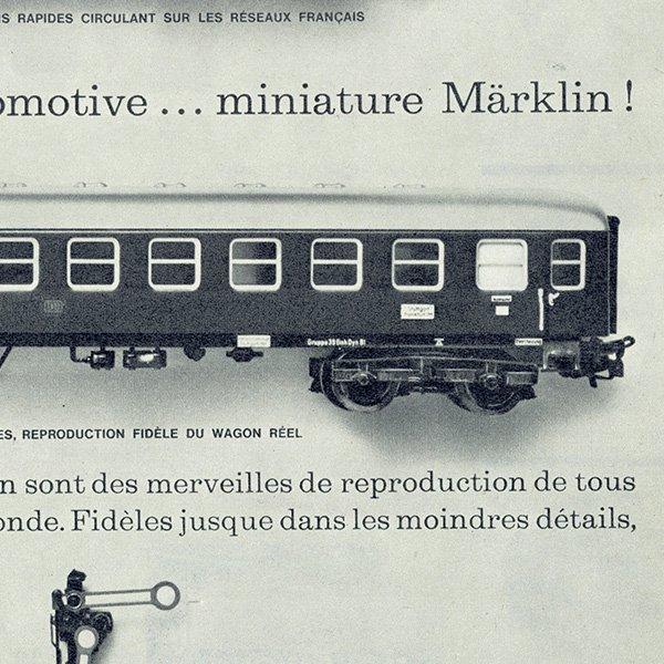 メルクリン社(Märklin)フレンチヴィンテージ雑誌広告 1962年 0212
