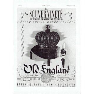 OLD ENGLAND フレンチヴィンテージ広告 1937年 0219
