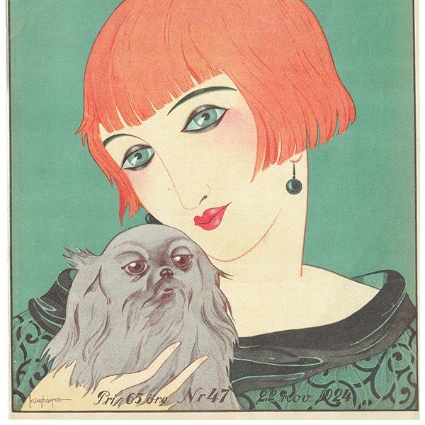 スウェーデンの古い雑誌表紙 Bonniers 1924-11-22 Nr47 (ヴィンテージプリント) 0222