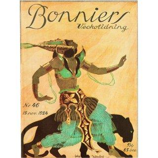 スウェーデンの古い雑誌表紙 Bonniers 1924-11-15 Nr46 (ヴィンテージプリント) 0223