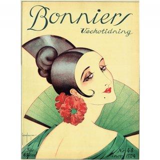 スウェーデンの古い雑誌表紙 Bonniers 1924-11-1 Nr44 (ヴィンテージプリント) 0225