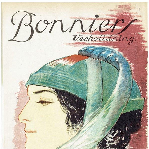 スウェーデンの古い雑誌表紙 Bonniers 1924-10-25 Nr43 (ヴィンテージプリント) 0226