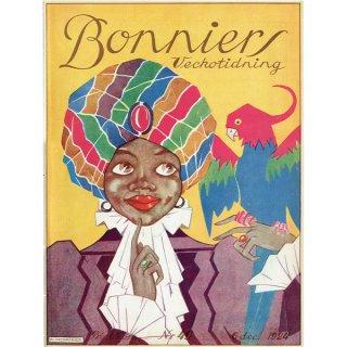 スウェーデンの古い雑誌表紙 Bonniers 1924-12-6 Nr49 (ヴィンテージプリント) 0228