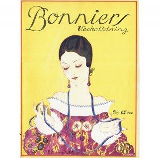 スウェーデンの古い雑誌表紙 Bonniers 1924-11-29 Nr48 (ヴィンテージプリント) 0230