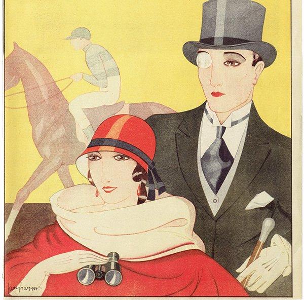 スウェーデンの古い雑誌表紙 Bonniers 1924-10-18 Nr42 (ヴィンテージプリント) 0232