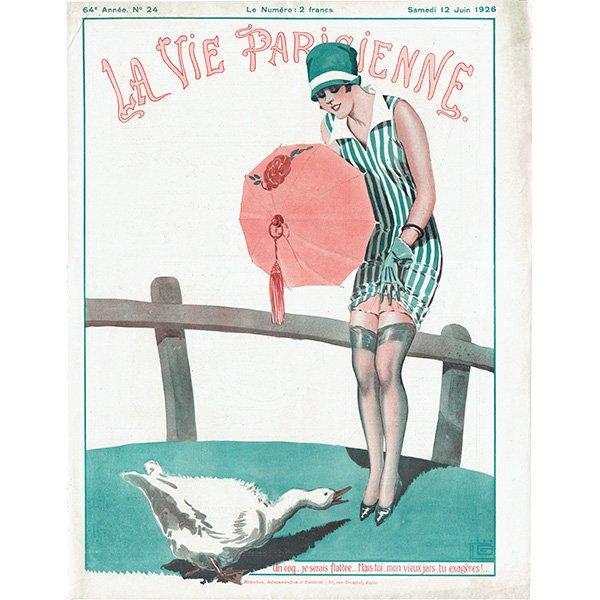 フランスの雑誌表紙 〜LA VIE PARISIENNE〜より(ジョルジュ・レオネック/Georges Léonnec)0469<img class='new_mark_img2' src='https://img.shop-pro.jp/img/new/icons5.gif' style='border:none;display:inline;margin:0px;padding:0px;width:auto;' />