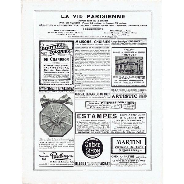 フランスの雑誌表紙 〜LA VIE PARISIENNE〜より(シェリ・エルアール/シェリ・エルアール/Chéri Hérouard)0475<img class='new_mark_img2' src='https://img.shop-pro.jp/img/new/icons5.gif' style='border:none;display:inline;margin:0px;padding:0px;width:auto;' />