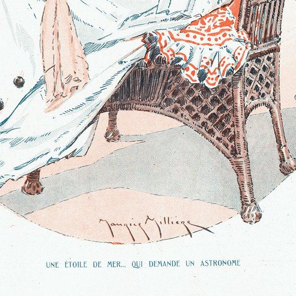 フランスの雑誌挿絵 〜LA VIE PARISIENNE〜より(モーリス・ミリエール/Maurice Milliere)0476