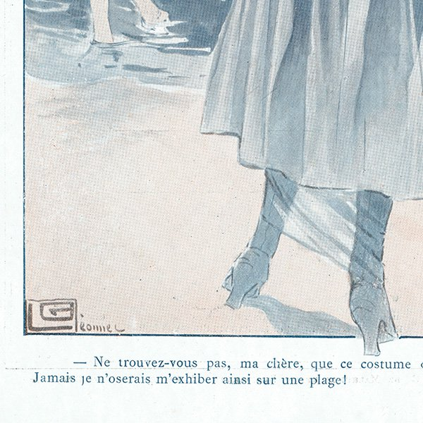 フランスの雑誌挿絵 〜LA VIE PARISIENNE〜より(ジョルジュ・レオネック/Georges Léonnec)0478