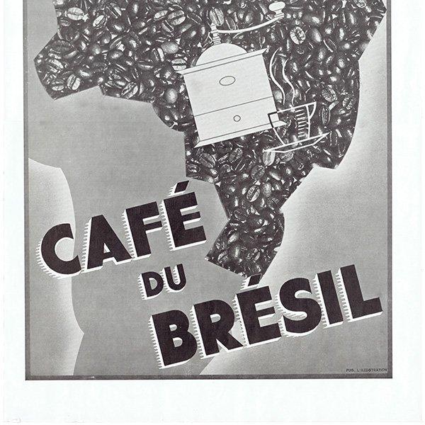 フレンチヴィンテージ広告(CAFÉ de BRÉSIL) カフェ コーヒー 1936年 0234