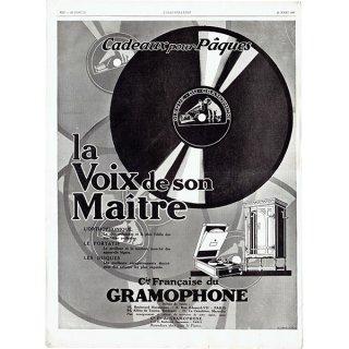 フレンチヴィンテージ広告 / Gramophone / La Voix de son Maitre 1929年 0235<img class='new_mark_img2' src='https://img.shop-pro.jp/img/new/icons5.gif' style='border:none;display:inline;margin:0px;padding:0px;width:auto;' />
