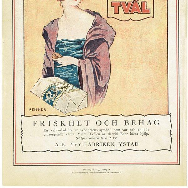 スウェーデンヴィンテージ広告 / YVY TVAL(石鹸) 1924年 0239