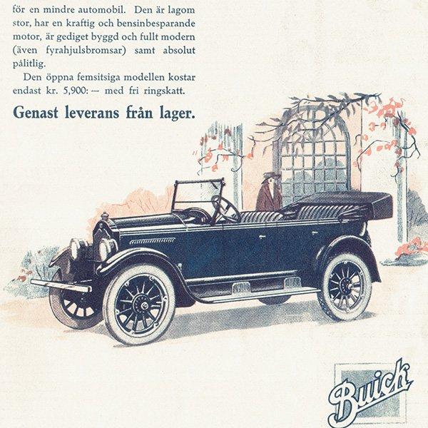 スウェーデンヴィンテージ広告 / Buick 4(ビュイック) 1924年 0242