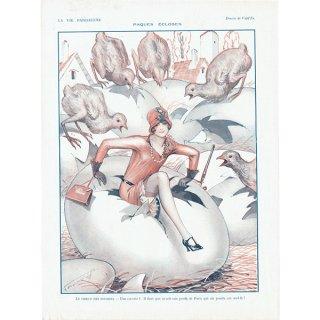 フランスの雑誌挿絵 〜LA VIE PARISIENNE〜より(Vald'Es)0486