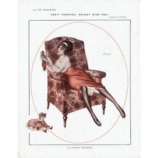 フランスの雑誌挿絵 〜LA VIE PARISIENNE〜より(Léo Fontan/レオ・フォンタン)0489